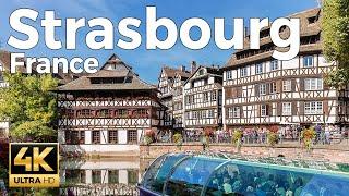 Strasbourg, France Walking Tour (4k Ultra HD 60fps)