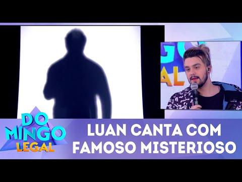 Luan Santana canta com famoso misterioso | Domingo Legal (17/06/18)