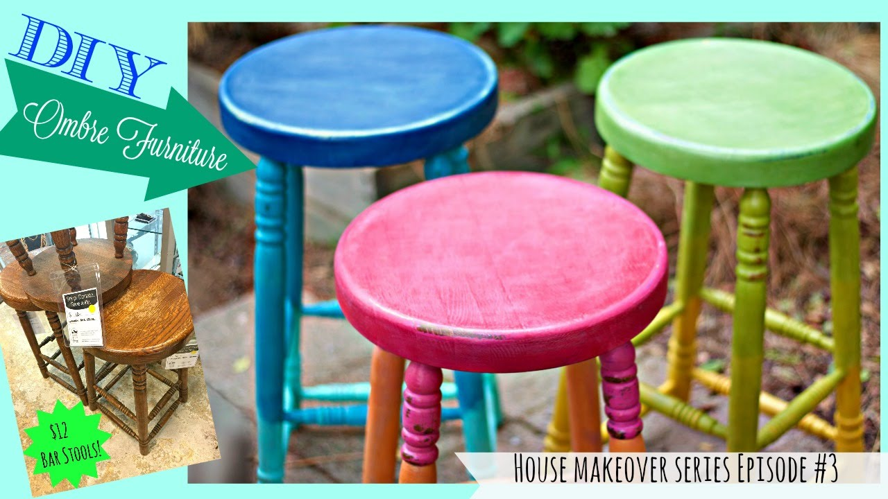 How to Ombre Furniture Episode #3 House Makeover Series - YouTube