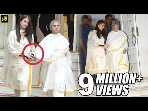Aishwarya Holds Jaya Bachchan's Hand While Climbing Down Temple Stairs