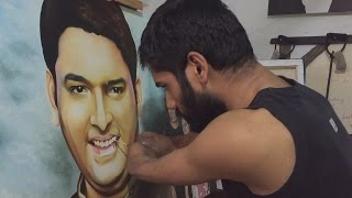 Kapil sharma painting by Dhaval Khatri | Best comedy artist Kapil Sharma painting