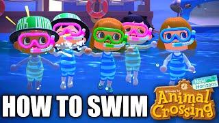 HOW TO Swim in Animal Crossing New Horizons