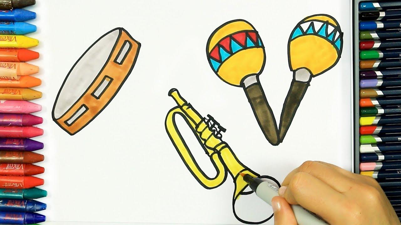 malvorlagen instrumente musik  x13 ein bild zeichnen