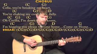Oh Cecilia (S&G) Strum Guitar Cover Lesson in G with Chords/Lyrics