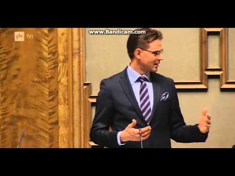 Timo Soini ja Jyrki Katainen väittelevät Euroopan unionista