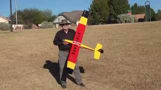 Dad's Build And First Flight With The Mark's Models Wanderer Glider.