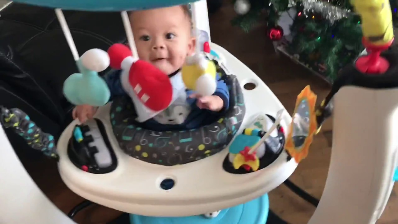6af5002f7ad Evenflo ExerSaucer Jump and Learn Stationary Jumper Jam Session Review