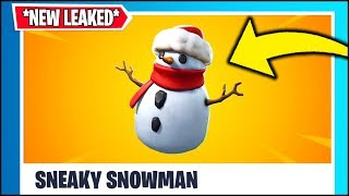 *NEW* Fortnite Update!! SNEAKY SNOWMAN GAMEPLAY ITEM *LEAKED*