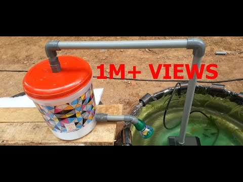 How To Make Fish Tank Filter With Shower | Fish Pool Filter | Water Pump
