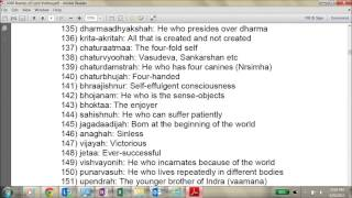 Part 1 vishnu sahasranamam powerful 1000 Names of Lord Vishnu in english meaning
