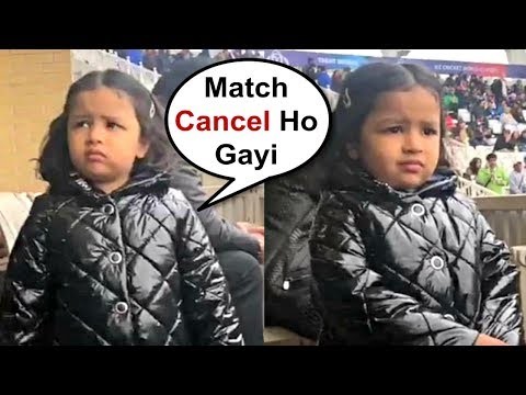 Ms Dhoni Daughter Ziva Dhoni Sad For India Vs New Zealand Match Being Cancelled - World Cup 2019