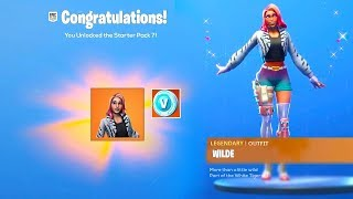 "How to get the NEW ""WILDE PACK"" in Fortnite! WILDE SKIN BUNDLE LEAKED! (Challenges, Wilde Rewards)"