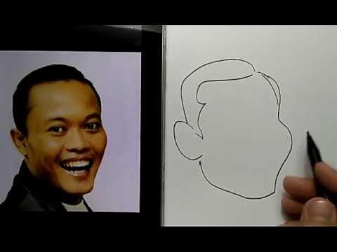 Keren Cara Menggambar Karikatur Sule Youtube
