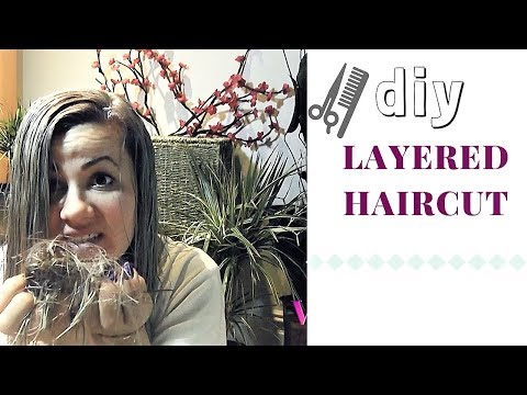 EASY LAYERED HAIRCUT(DIY)…Step by Step Tutorial #91