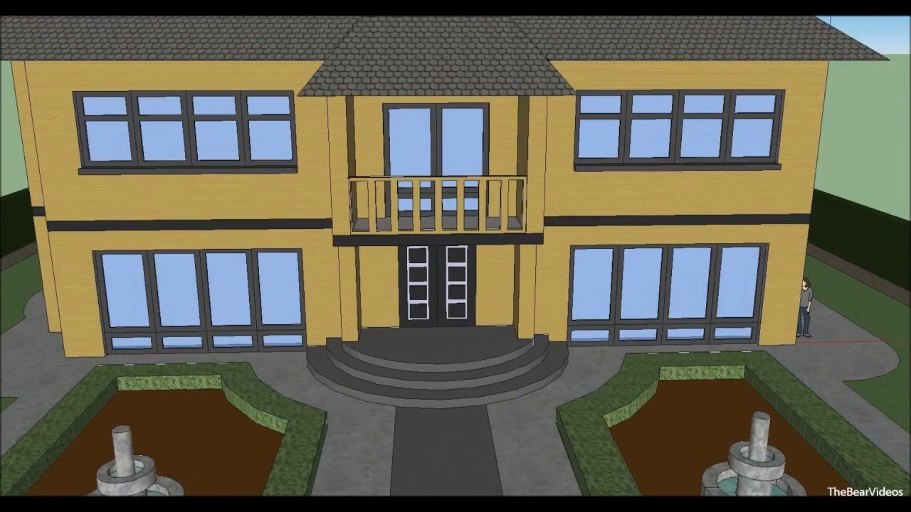 Make a house with google sketchup 8 youtube for What makes a mansion