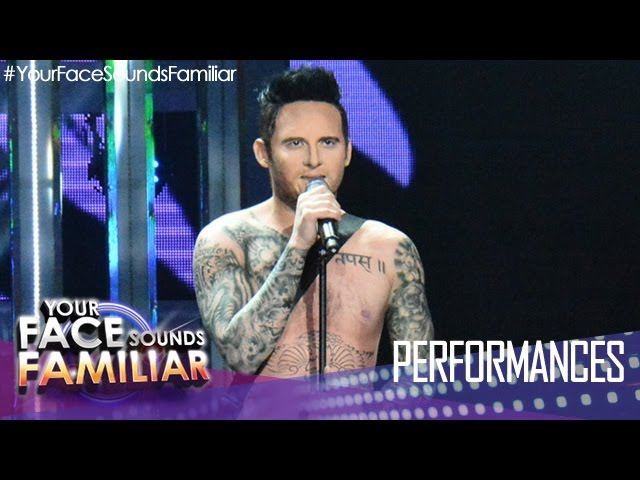 "Your Face Sounds Familiar: Michael Pangilinan as Adam Levine - ""Sugar"""