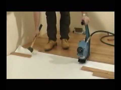 Pneumatic Hardwood Flooring Nailer Primatech Model P240 Youtube