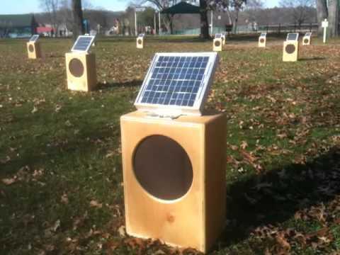 Sun Boxes: A Solar Sound Installation by Craig Colorusso. Turners Falls, MA. Nov 21, 2010.