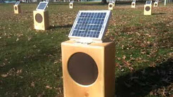 Sun Boxes: A Solar Sound Installation by Craig Colorusso. Turners Falls, MA. Nov 21, 2010.