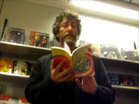 Neil Gaiman reading from Fortunately the Milk! Oslo, Norway, 25 May 2014