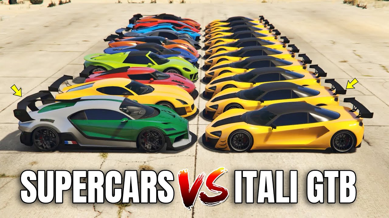 GTA 5 Online: ITALI GTB VS SUPERCARS (WHICH IS FASTEST?)