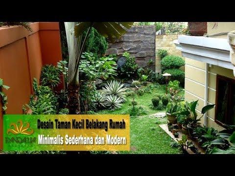 Desain Taman Kecil Belakang Rumah Minimalis Sederhana Dan Modern