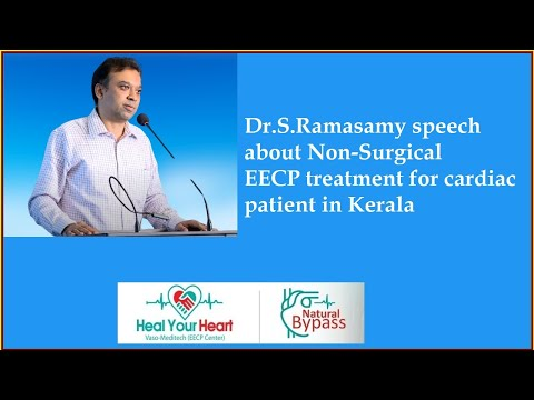 dr s ramasamy speech about non surgical eecp treatment for cardiac patient in kerala