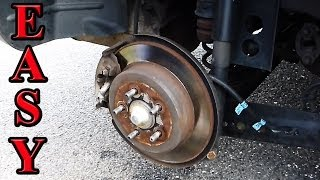 how to replace rear brake pad on a GL1500