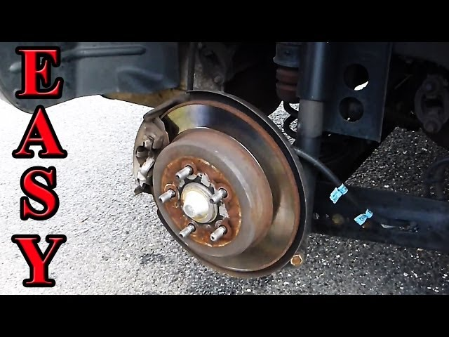 How to Change Rear Pt Cruiser Brake Pads Travel Video