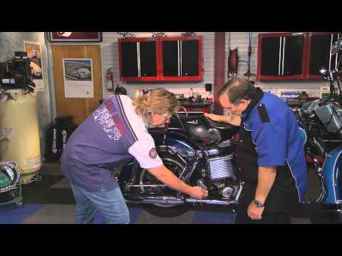 Motorcycle Wheel Alignment Demonstration