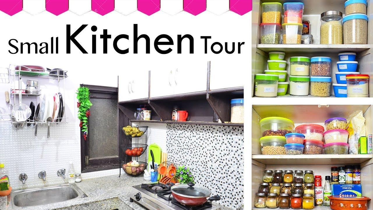 Indian Kitchen Tour / Kitchen Tour - How to Organize your small ...