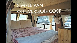 Simple Van Conversion | How Much Did it Cost?