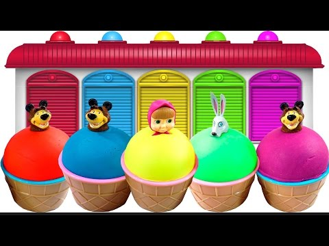 Thumbnail: Learn Colors With Play Doh Masha Ice Cream | Learn Colors And Learn Number Videos For Kids
