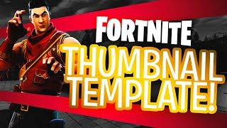 "NEW FREE FORTNITE GFX ""YOUTUBE"" THUMBNAIL TEMPLATE! - (FREE Fortnite Thumbnail PSD)"
