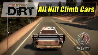 Colin Mcrae Dirt 1 (PS3) - All 5 Hill Climb Cars (With Unlocked Cars) (720@60)