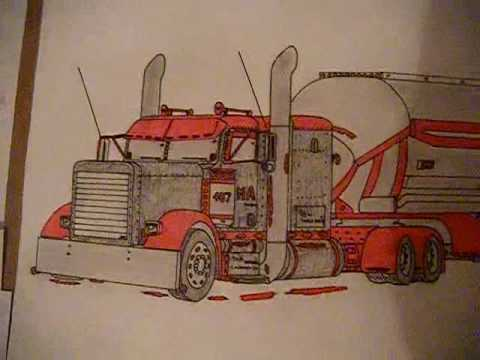 Peterbilt 379 Drawing Youtube