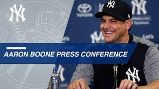 Aaron Boone discusses his 2018 plans for the Yankees