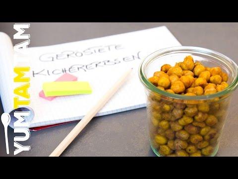 Geröstete Kichererbsen // gesunde Snacks für die Prüfungszeit #1 // #yumtamtam