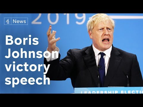 Boris Johnson full victory speech after being named new Conservative leader