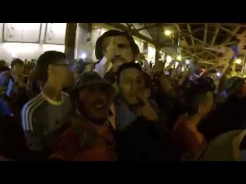 NYCFC SUPPORTERS POST GAME CELEBRATION 8-13-15