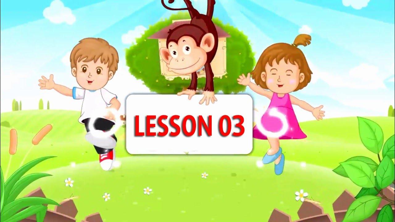 Tiếng Anh Cho Bé Bài 3  |  Monkey Junior  Lesson 3