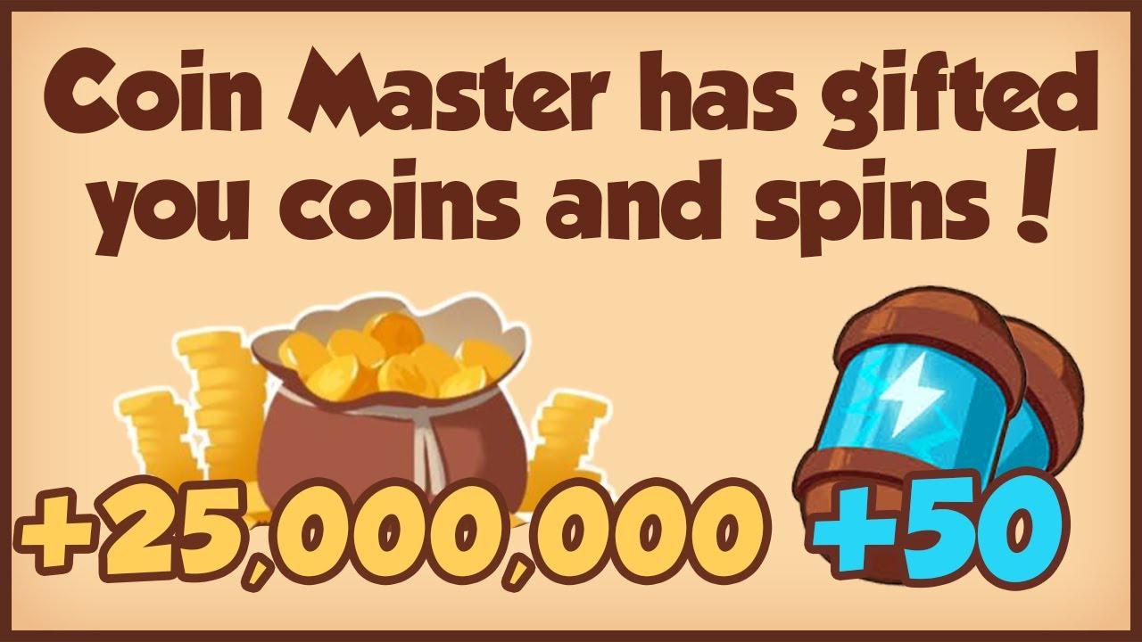 COIN MASTER FREE 50 SPINS + 25M COINS 27.02.2021