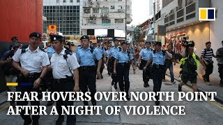 Fear hovers over North Point after a night of violence