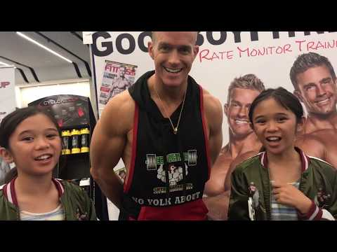 AmeliaAndAdinah's priceless interview with fitness champ/actor James Ellis from SJ The Fit Expo