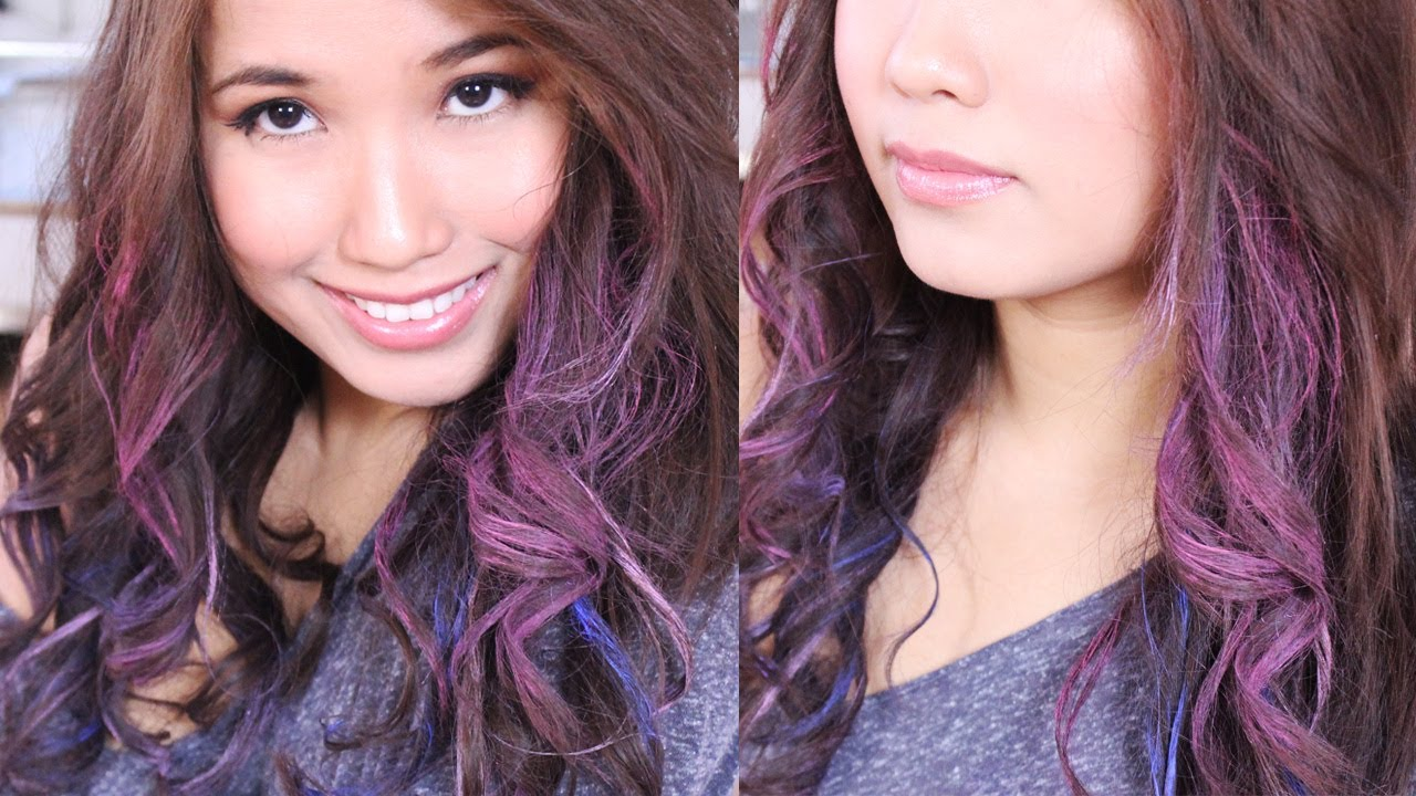 Easy Crazy Colored Curls For Dark Light Hair With Oil Pastels No