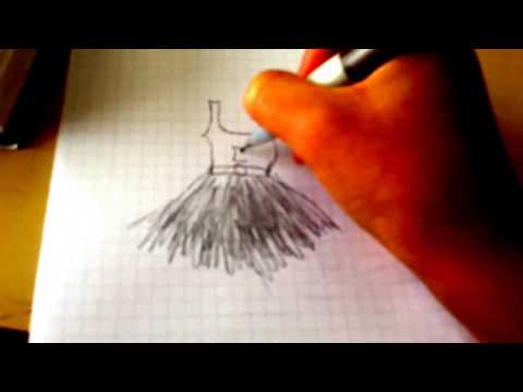 how to draw the bottom of a dress