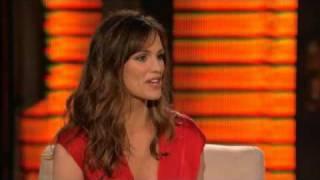 Lopez Tonight - Jennifer Garner Interview -  Pinata-Smashing Contest