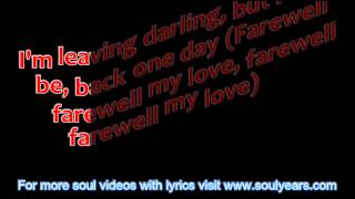 Jimmy Ruffin - Farewell Is a Lonely Sound (with lyrics)