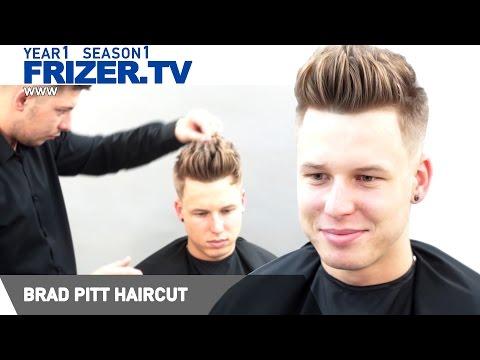 Brad Pitt haircut.  Celebrity Hairstyles  Frizer TV