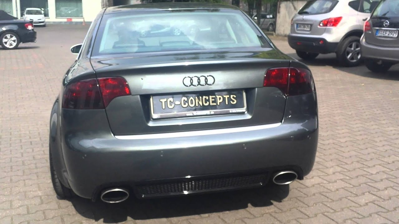 audi rs  full exhaust   pipe sound tc concepts